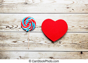 lollipop and heart shaped toy