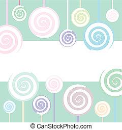 Lollipop Background - Trendy Lollipop Background in pastel...