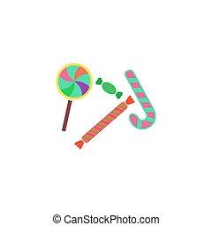 Lollipop candy Icon Vector
