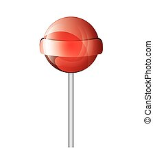 lollipop candy sweet isolated icon