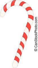 lollipop christmas realistic vector illustration isolated
