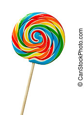 Colorful lollipop isolated against white