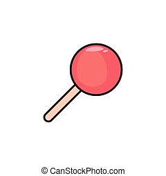lollipop flat on white background