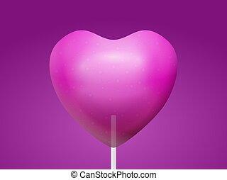 Lollipop heart background