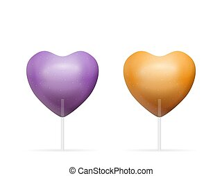 Lollipop heart set
