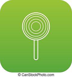 Lollipop icon green vector