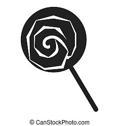 Lollipop icon, simple style - Lollipop icon. Simple ...