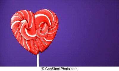 lollipop in the form of an heart