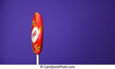 lollipop in the form of an round