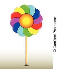 Lollipop in the shape of a flower