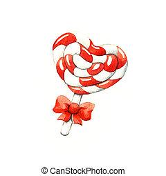 Lollipop in the shape of a heart