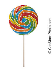 Isolated image of a colourful lollipop.