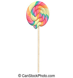 lollipop isolated on a white background, 3d illustration