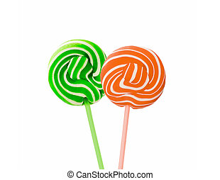 lollipop isolated on the white background