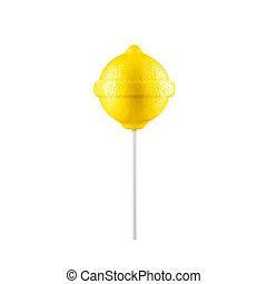 Lollipop lemon