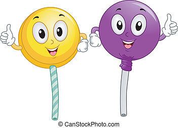 Lollipop Mascot - Mascot Illustration Featuring