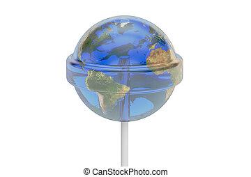 lollipop world, 3D rendering