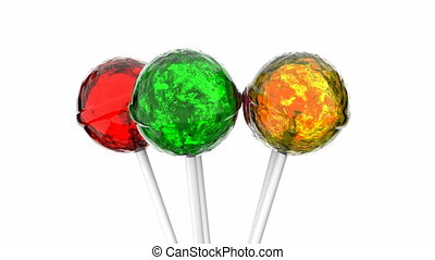 Lollipops 3D animation