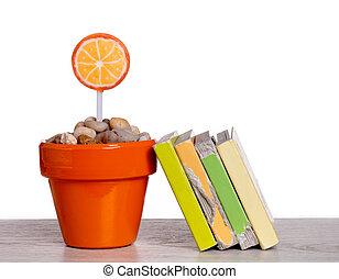 lollipops and books