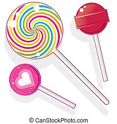 Lollipops and suckers vector - Lollipops and suckers. Vector...