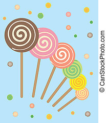 lollipops - vector illustration of colorful lollipops with...