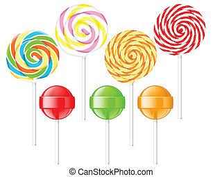 Lollipops - Set of spiral and ball lollipops