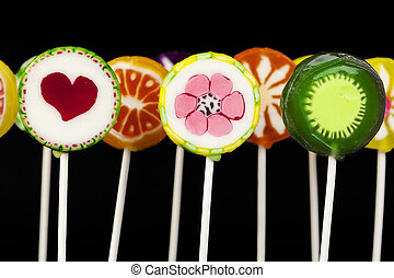 Lollipops in different colors
