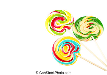 Lollipops isolated on white