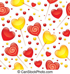 lollipops seamless pattern, valentine's day illustration,...