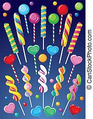 lollipops set - illustration of a lollipops set