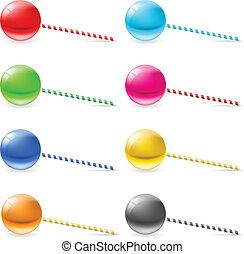 Lollipops - Set of lollipops. Illustration on white...