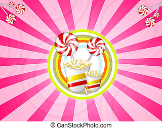 lolly candy circle - Illustration of lollypop and candies