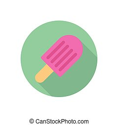 lolly  flat color icon