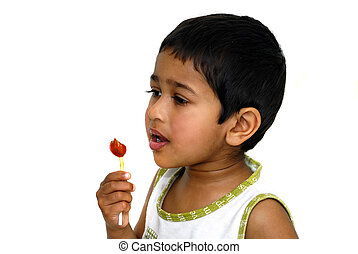 Lollypop - An young handsome kid with his lollypop
