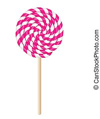lollypop - Pretty pink treat on a stick, sweet candy