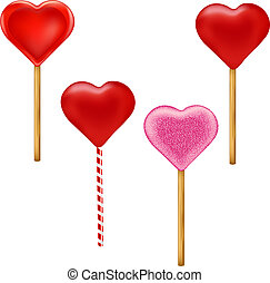 Lollypops Form Of Hearts Set - 4 Lollypops Form Of Hearts ...