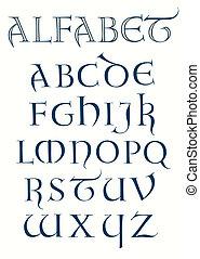 lombardic, alfabet