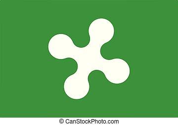 Lombardt region flag - Vector flag of Lombardy region,...
