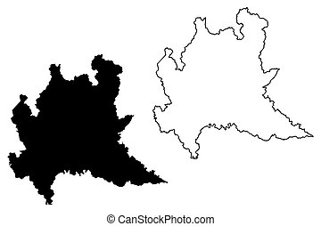 Cartina Lombardia Da Colorare.Lombardy Autonomous Region Of Italy Map Vector Illustration Scribble Sketch Lombardy Map Canstock