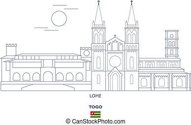 Lome  City Skyline, Togo - Lome Linear City Skyline, Togo