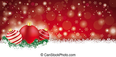 lon, クリスマスカード, 赤