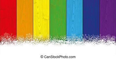 Lon Christmas Card Rainbow Laths