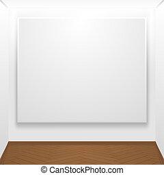lona, exhibición, blanco