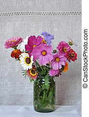 lona, flores