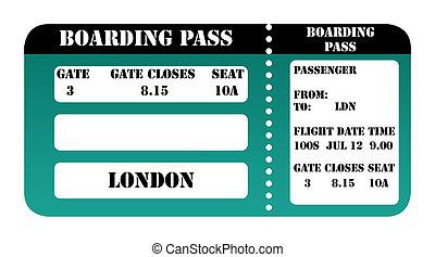 London 2012 boarding pass