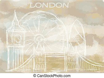 london. abstract cityscape