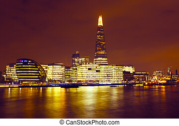 London at night in the UK