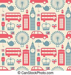 London Background - Seamless pattern with London symbols.