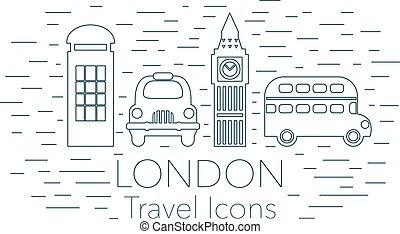 london, baner, linjär