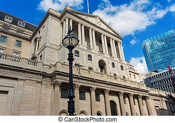 London Bank of England in Threadneedle Street.